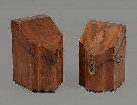 A George Iii Mahogany Knife Box, Circa 1780, Of