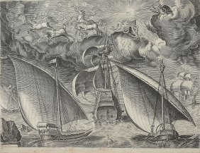 Franz Huys (1522–1562) - Two Galleys Sailing