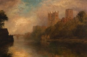 Alfred Dawson (19th Century) - Durham From The River