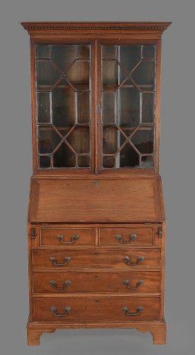 A Mahogany Bureau Bookcase In George Iii Style , Late