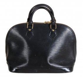 Louis Vuitton, Paris, An Alma Black Epi Leather Handbag