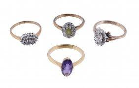 An Amethyst Dress Ring, The Oval Cut Amethyst Claw Set