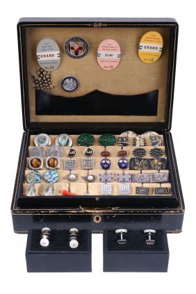 A Collection Of Cufflinks, To Include A Pair Of Mexican