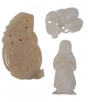 A Chinese Celadon Jade Carving Of A Kylin-type Animal