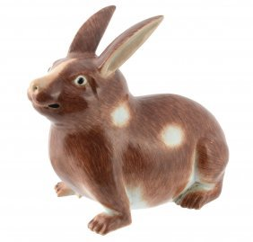 A Chinese Porcelain Model Of A Rabbit, Late 19th Or