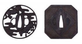 An Iron Bushu School Tsuba, Edo Period, Of Circular