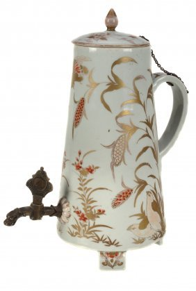 · -360 An Arita Porcelain Coffee Urn And Cover