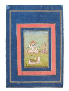 An Indian Miniature Depicting Shiva, Pahari, Late 18th