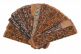 Seventeen Assorted Leaves From Buddhist Texts, Burma