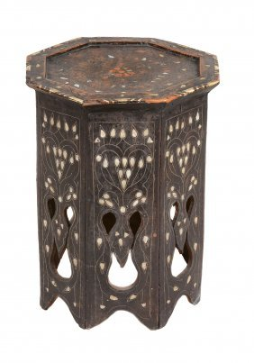 A Syrian Inlaid Occasional Table, 19th Century