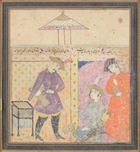 A Safavid Illumination For The Shahnameh , Isfahan,