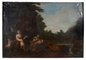 Italian School (17th Century) - The Finding Of Moses