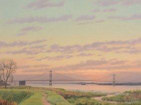 Hugh Melvill Crowther (1914-2003) - The Severn Bridge