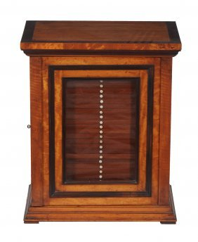A Victorian Satinwood And Rosewood Inlaid Collector's