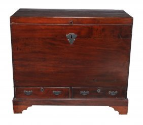 A Mahogany And Cedar Mule Chest, Circa 1780 And Later,