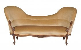A Victorian Carved Walnut And Upholstered Three Piece