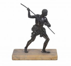 An Italian Patinated Bronze Model Of A Gladiator, Mid