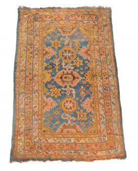 An Ushak Hall Carpet, Approximately 266 X 158cm