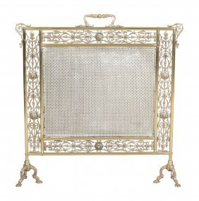 A Late Victorian Or Edwardian Gilt Brass And Mesh