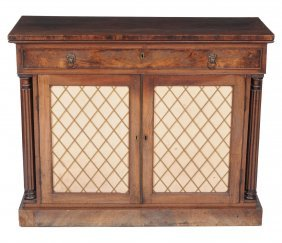 A Late Regency Mahogany Secretaire Side Cabinet, Circa