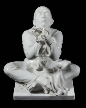A Meissen White Porcelain Model Of A Chinese Tailor ,