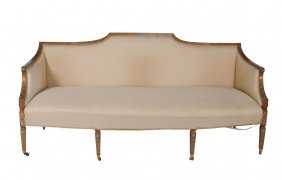 A Satinwood And Painted Decorated Sofa In George Iii