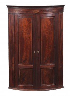 A George Iii Mahogany Hanging Corner Cupboard , Circa