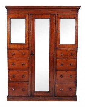A Victorian Triple Section Compactum Wardrobe, Circa