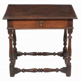 An Oak Side Table , Late 17th Century, 67cm High, 73cm