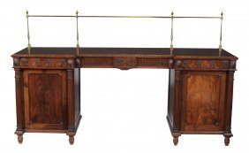 A Mahogany Sideboard In Late George Iii Style, 19th