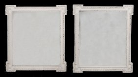 A Pair Victorian White Painted Mirrors In George Iii