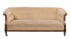 An Edwardian Mahogany And Upholstered Sofa, Circa 1910