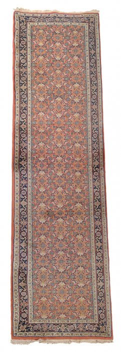 A Tabriz Runner, Approximately 335 X 80cm