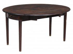 A George Iii Mahogany Drop Leaf Dining Table , Circa