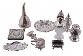 A Collection Of Small Silver And Silver Mounted Items,