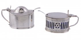 A George Iii Silver Oval Mustard By Peter & William