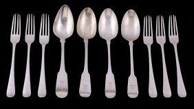 Seven George Iii Irish Silver Hanoverian Pattern Forks
