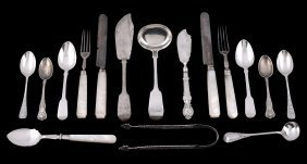 A Collection Of Silver And Silver Mounted Flatware, To