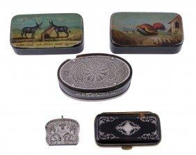 A Silver Filigree Mounted Tortoiseshell Oval Snuff Box,