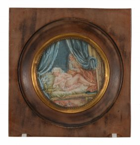 Continental School , An 18th Century Bedroom Scene Of A