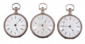 A Silver Open Face Pocket Watch Made For The Chinese