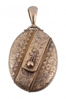 A Late Victorian Gold Locket, Circa 1890, The Gold