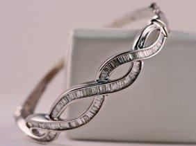 AIG Appraised Diamond Bangle Bracelet.