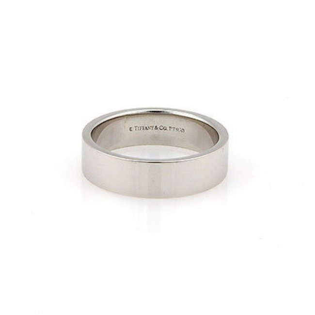 Tiffany  Co. Platinum 6mm Wedding Band Ring