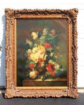 Emilio Greco Italian Still Life Oil Painting On Canvas