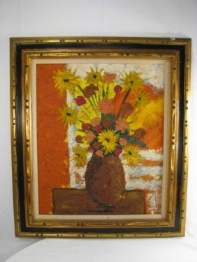 FLORAL STILL LIFE PAINTING SIGNED ZEPEDA