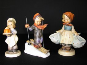 HUMMEL FIGURINES SKIER BAKER MOTHERS DARLING 3pcs