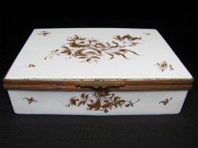 ORLIK PORCELAIN HAND FLORAL CIGARETTE TRINKET BOX