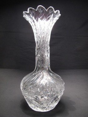 HAWKES GRAVIC CUT GLASS VASE