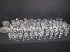 CAMBRIDGE ELEGANT DEPRESSION GLASS: CAPRICE 140pc